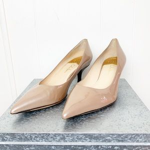 Cole Haan Nike Air champagne patent leather kitten